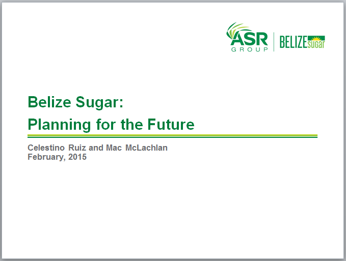 Belize Sugar: Planning for the Future