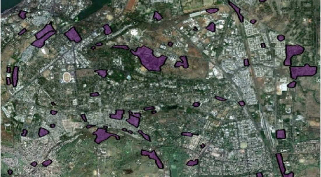 Slum settlements in Bhopal South Constituency (copyright: author).