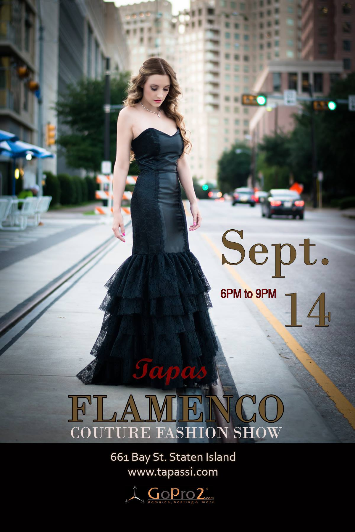 Loren Franco's dress will be showcased at Tapas Flamenco Couture Fashion Show in Staten Island on September 14, 2014.