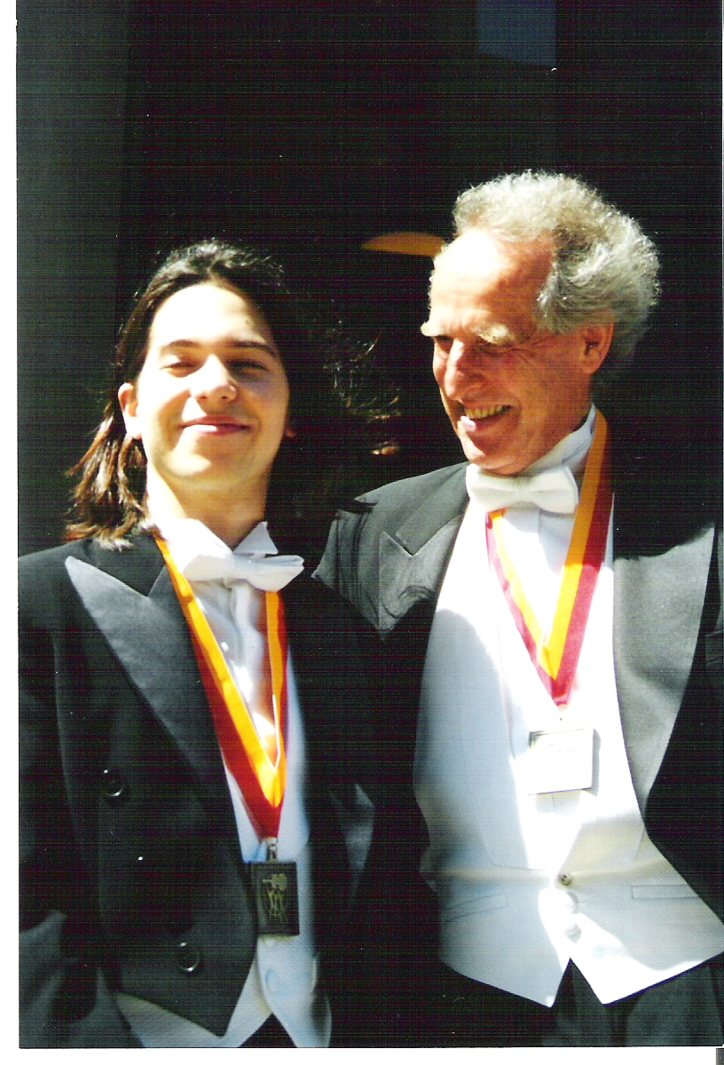 With Conductor Benjamin Zander