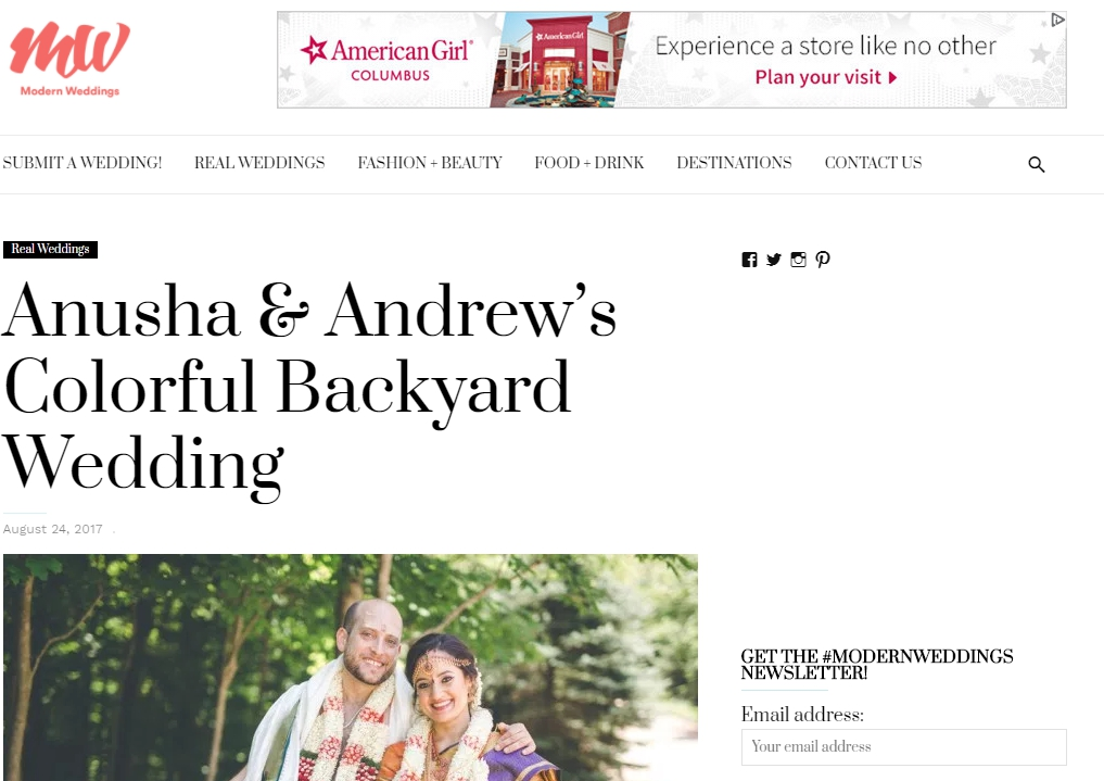 Modern Weddings // Hindu Backyard Wedding
