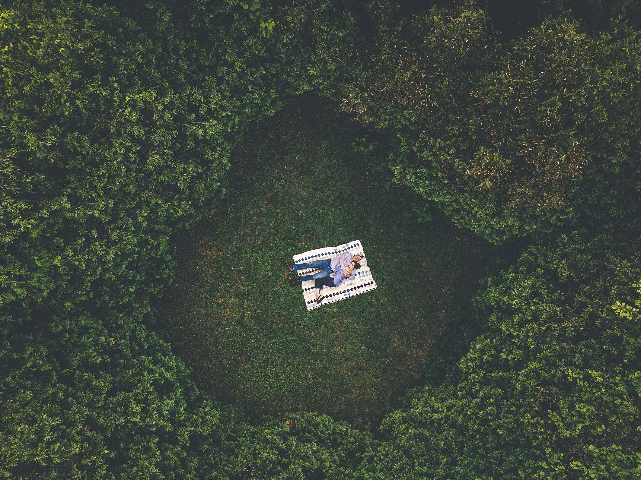 Drone Engagement Photography