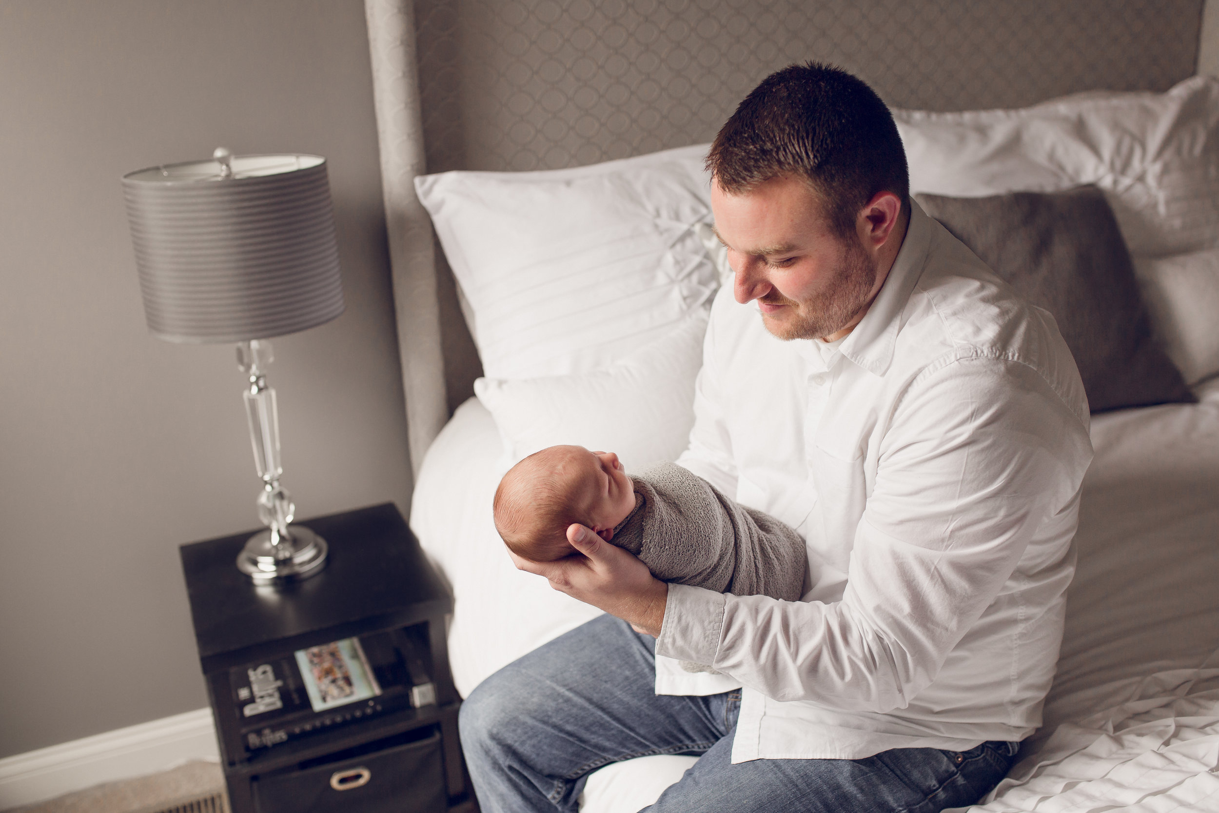 Baby Anderson's sweet Lifestyle newborn session in Grove City, Ohio.