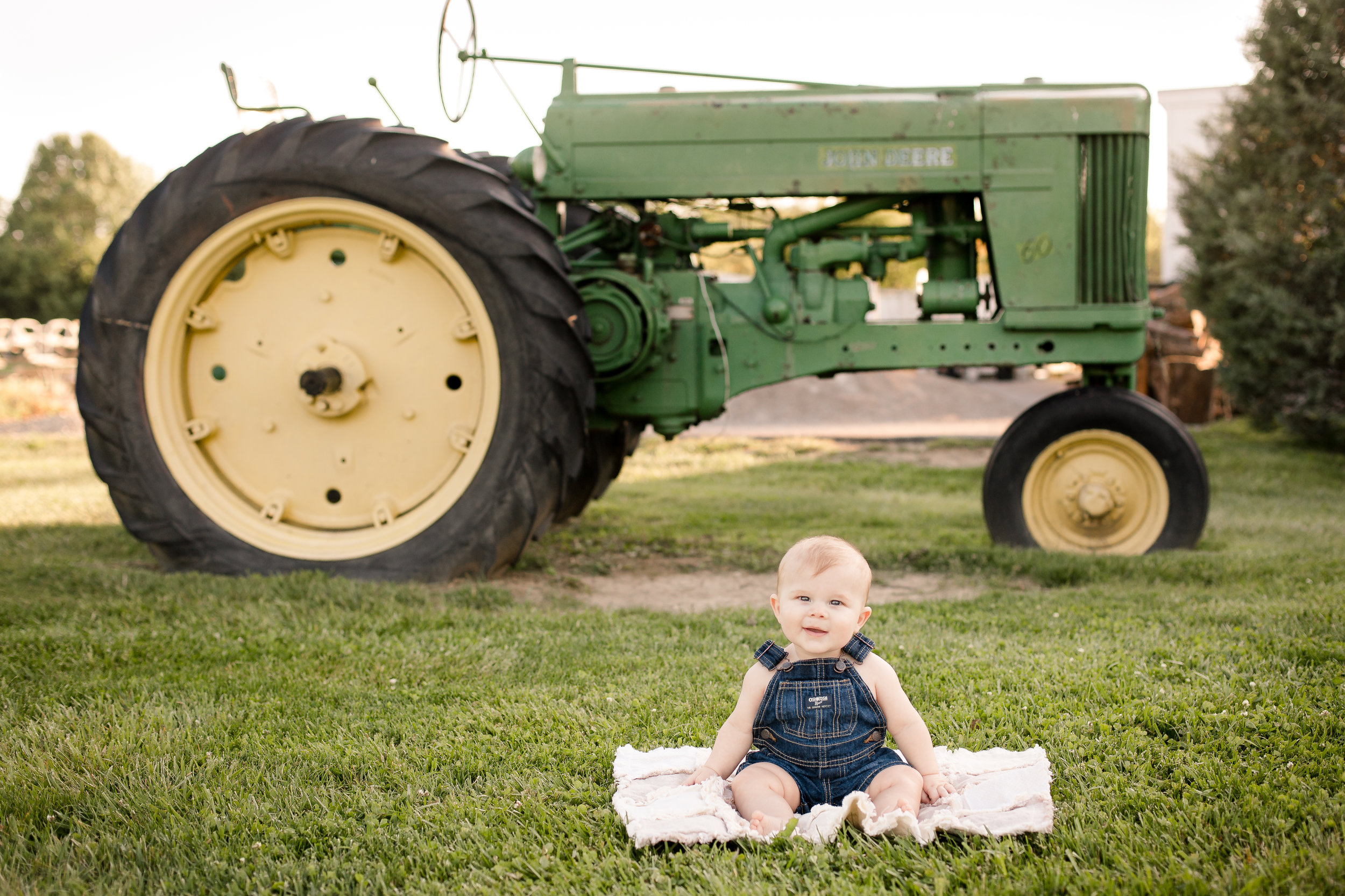 Six Month Old Photo Session in Hilliard Ohio at Homestead Park | Sarah Cropper Photography