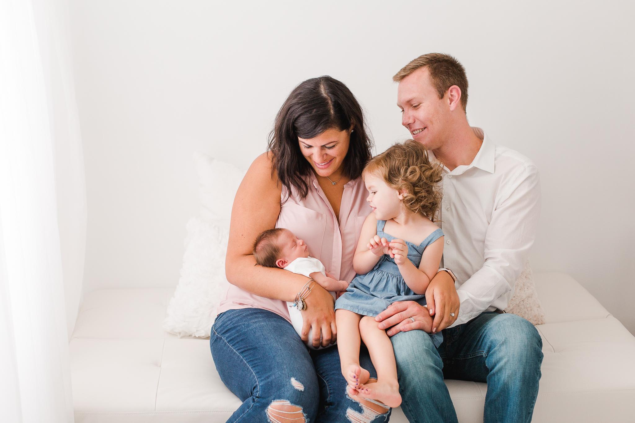 Studio Lifestyle Newborn Photo in Columbus