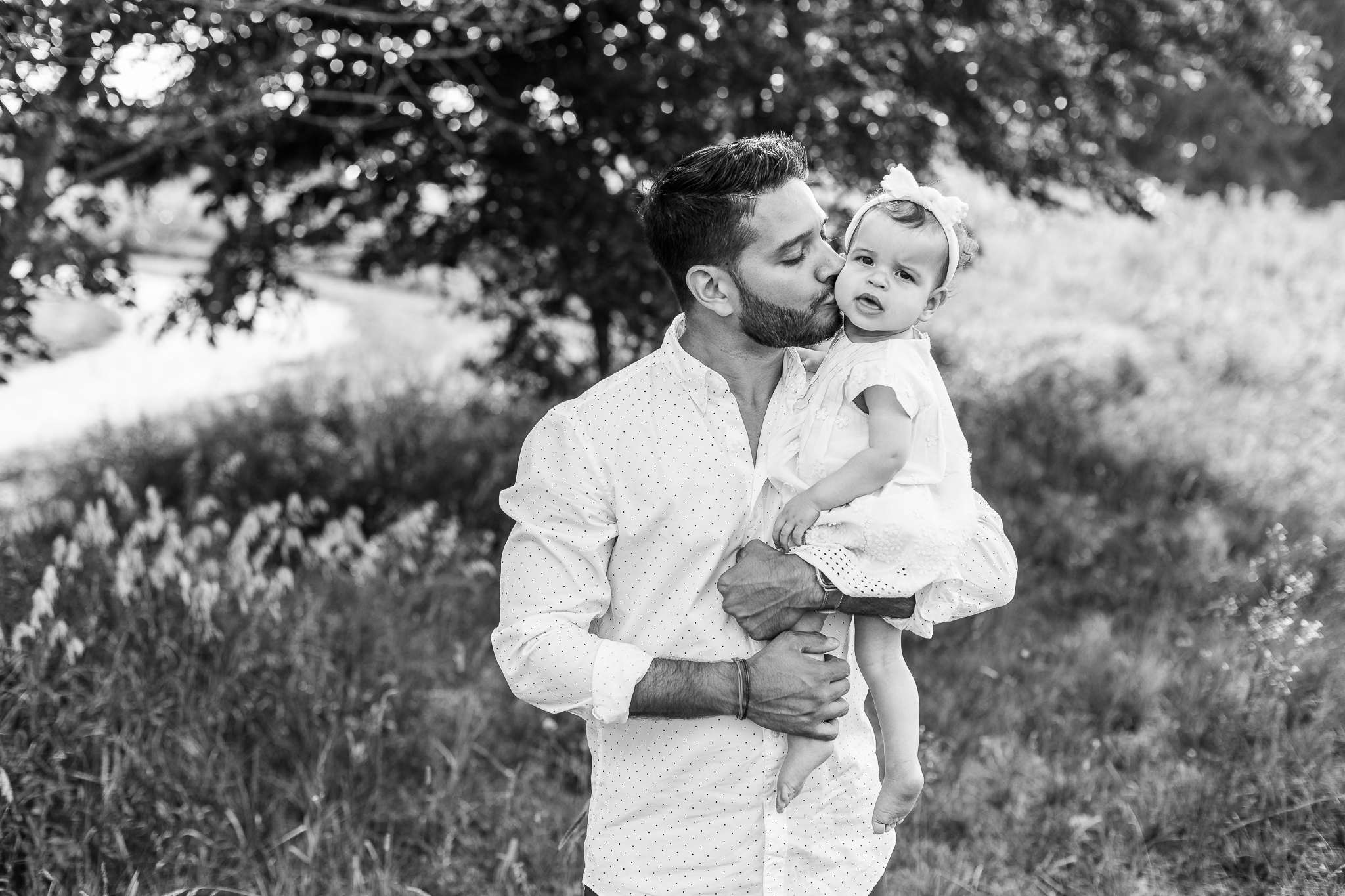 Father and Daughter Black and White Photo Central Ohio