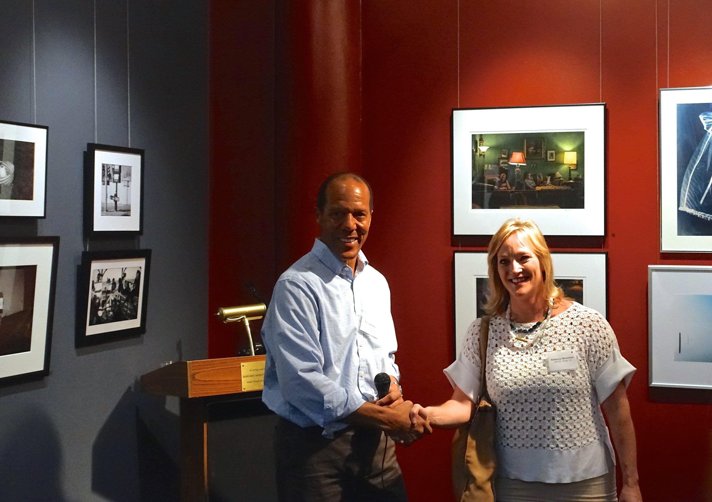 Rebecca Moseman with MEG member Eric Johnson