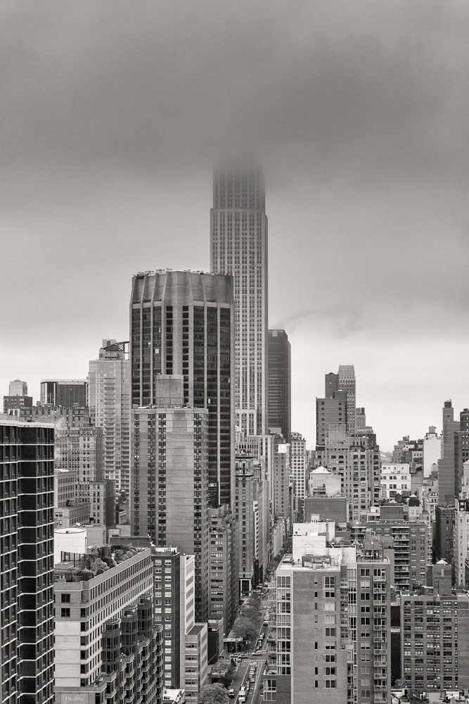 Empire State Building in Fog