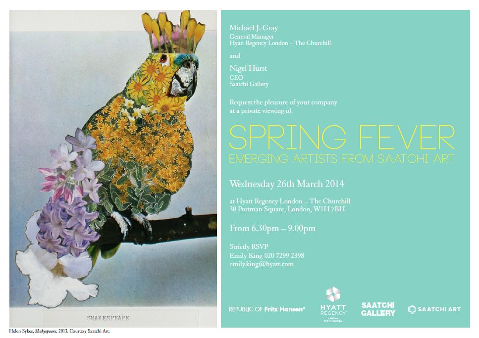 Saatchi Art: Spring Fever - Group Show, Hyatt Regency, London 2014