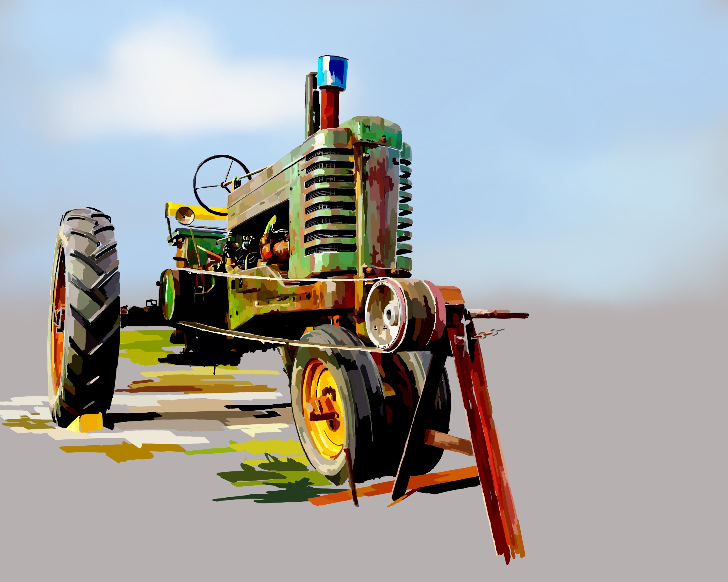 Green Tractor 2