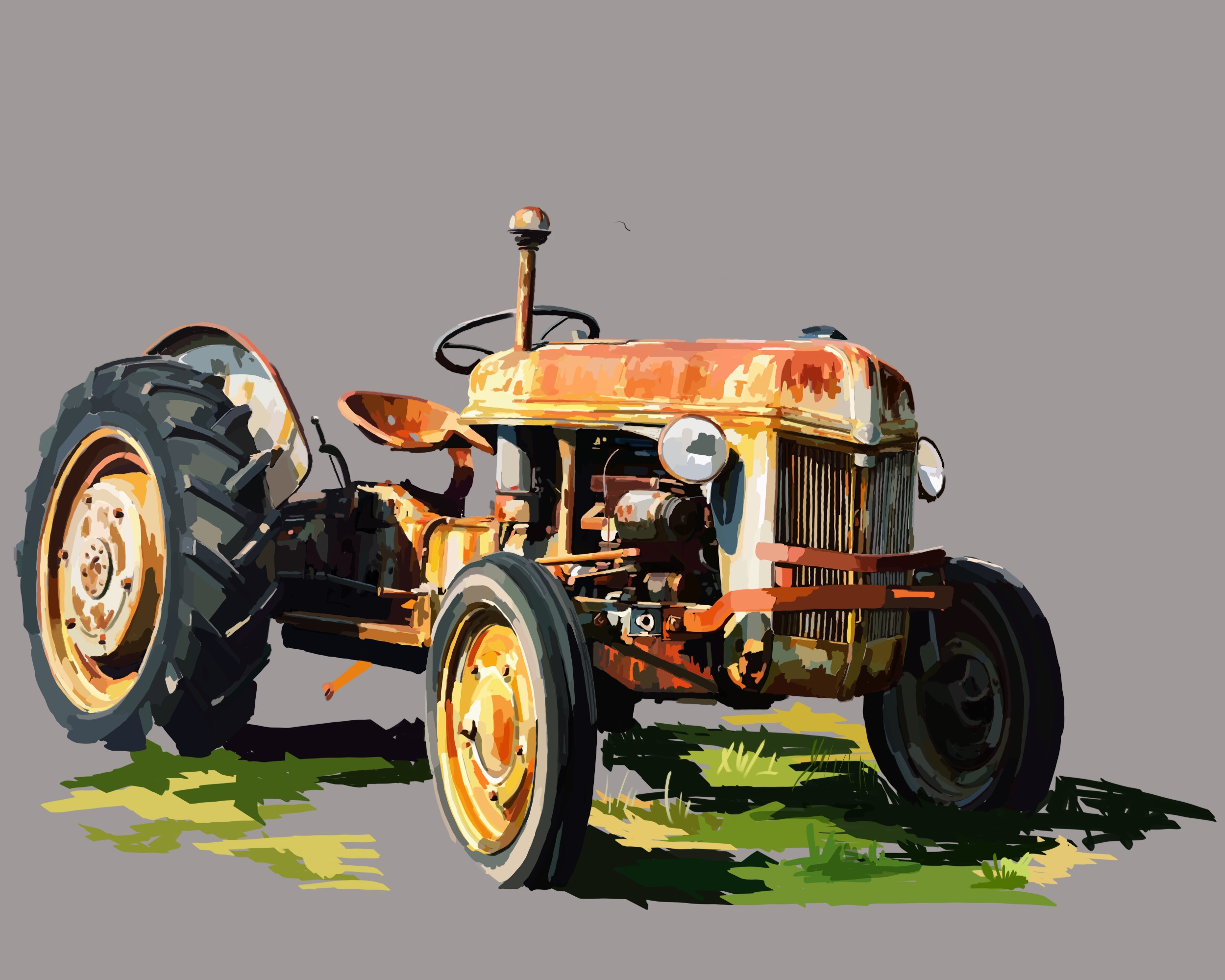 Yellow Tractor 2