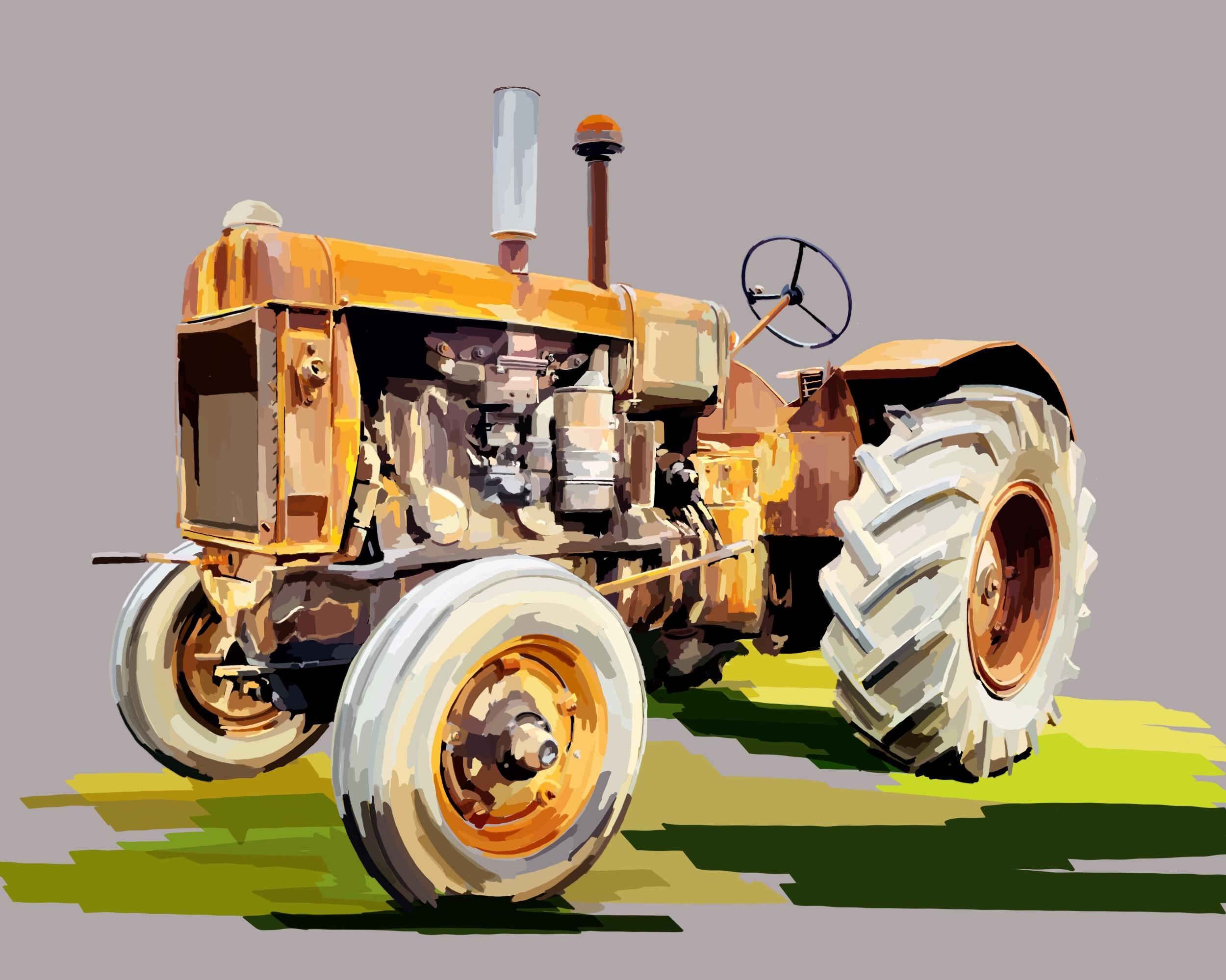 Yellow Tractor 1