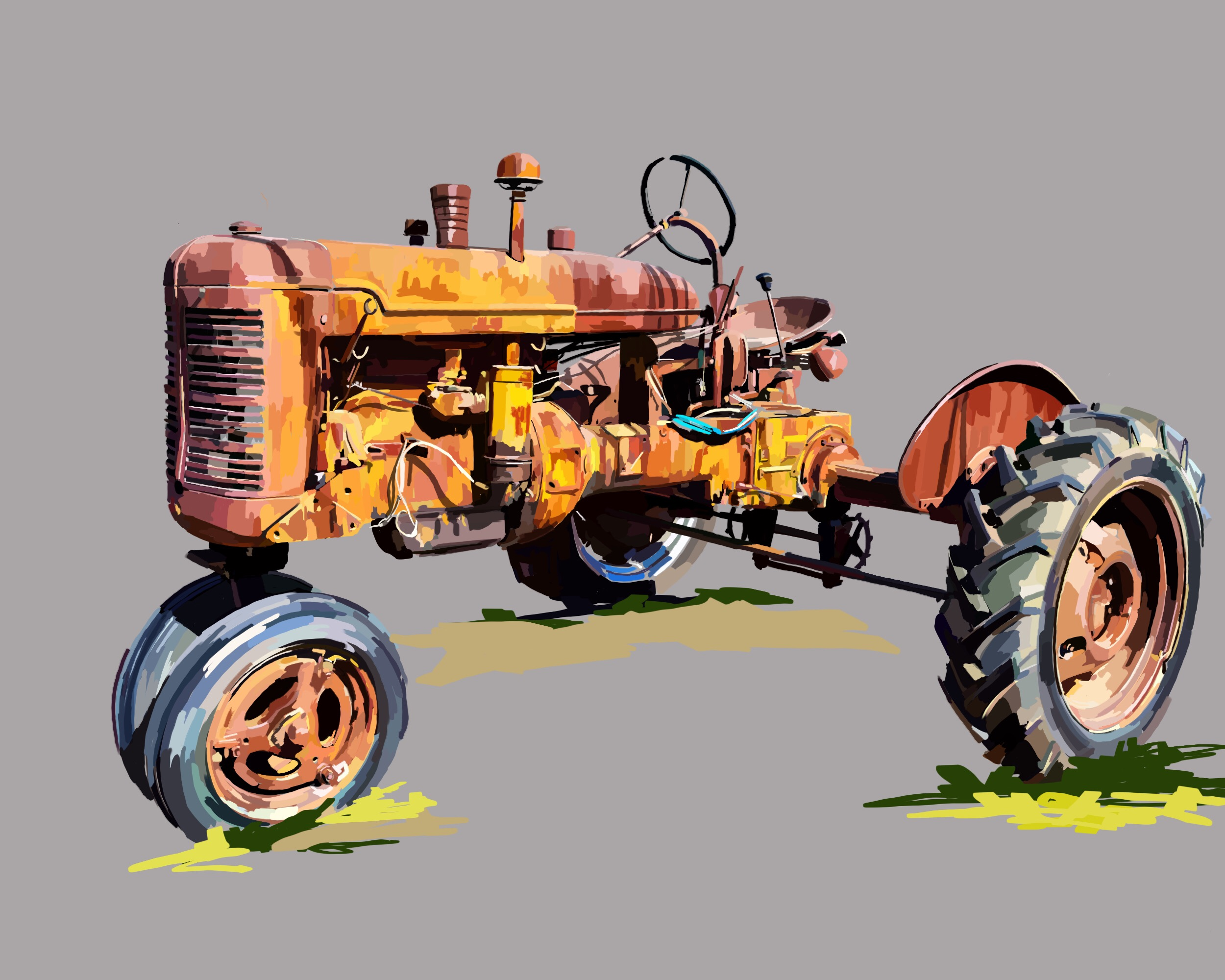 Yellow Tractor 3