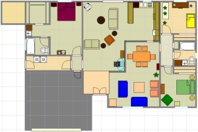 Our best guess at the floorplan before we actually moved in.