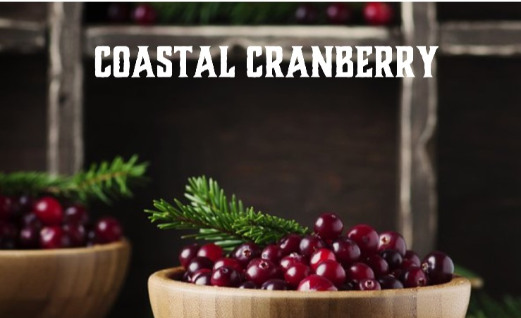 The festive scent of freshly picked cranberries.