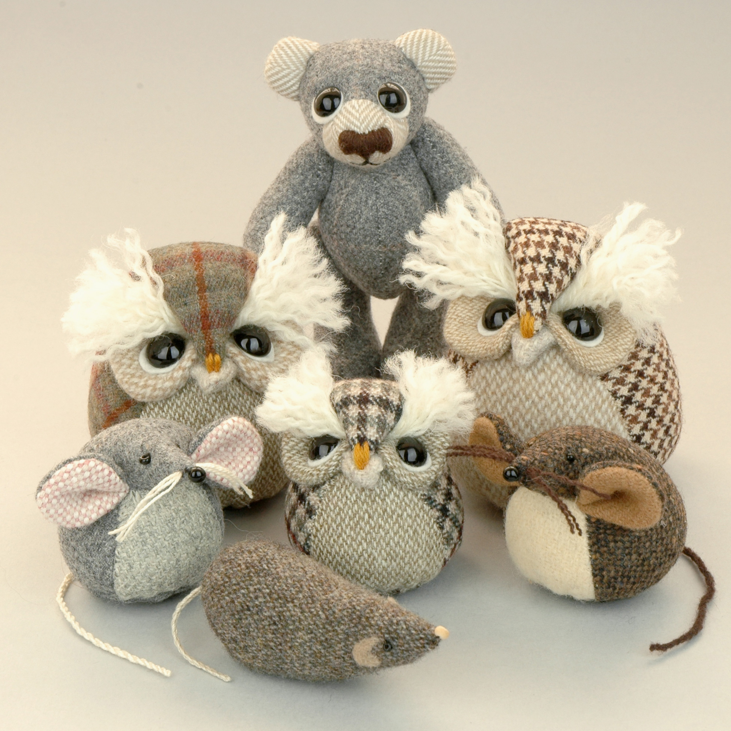 Handmade woodland friends collection.