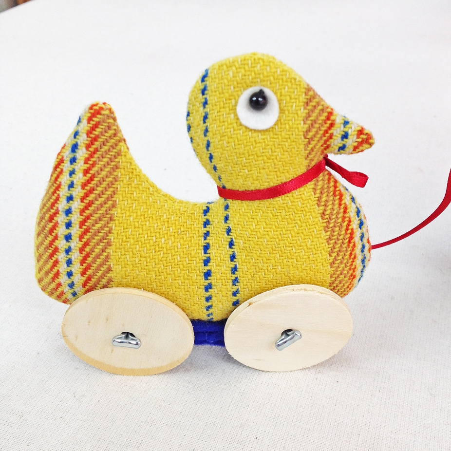 Handmade pulling duck toy.