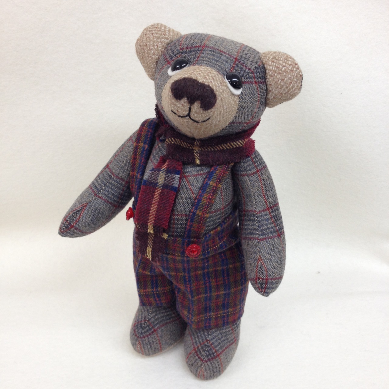 OOAK artist teddy bear George.