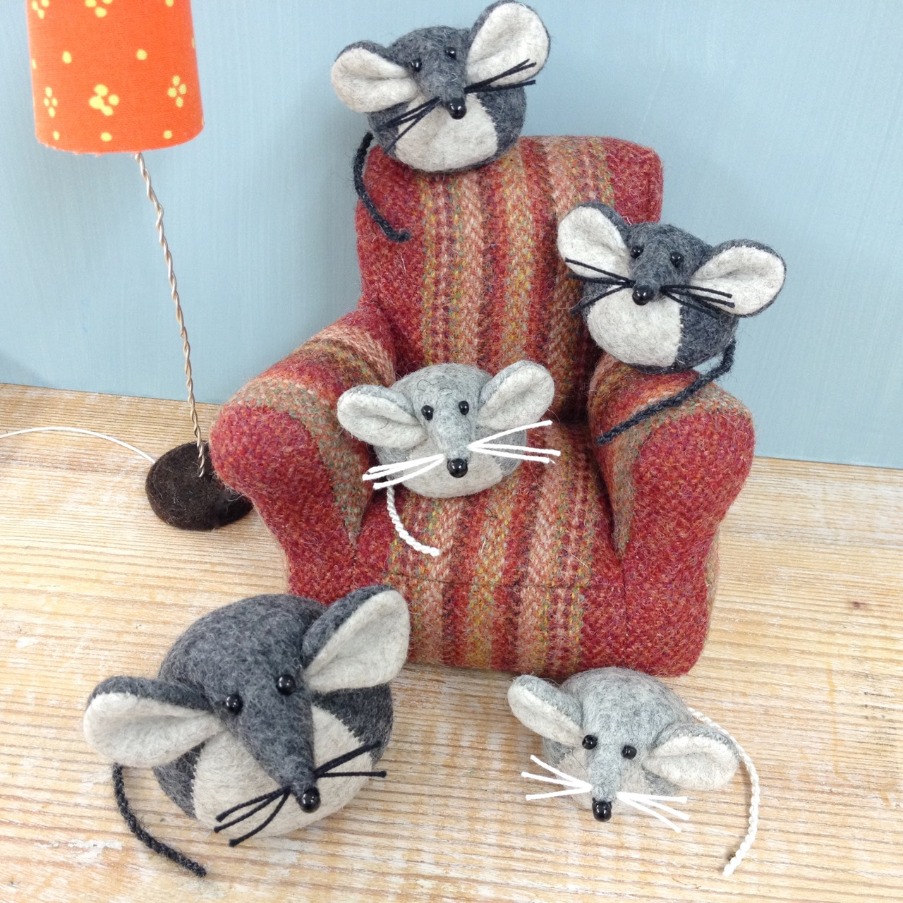 Bilberry Woods character Mika the Mouse baby sitting.