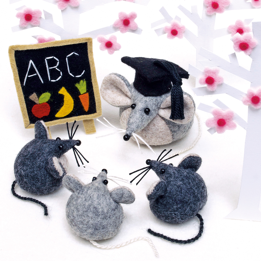 Mice greeting card for teachers, students, graduates.