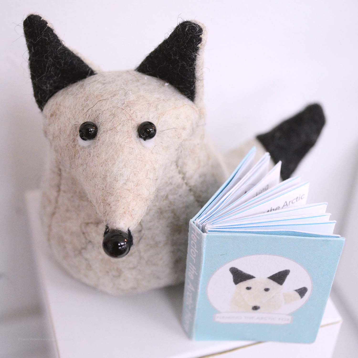 Bilberry Woods storybook character Hector the Arctic Hare by Laura Mirjami | Mirjami Design