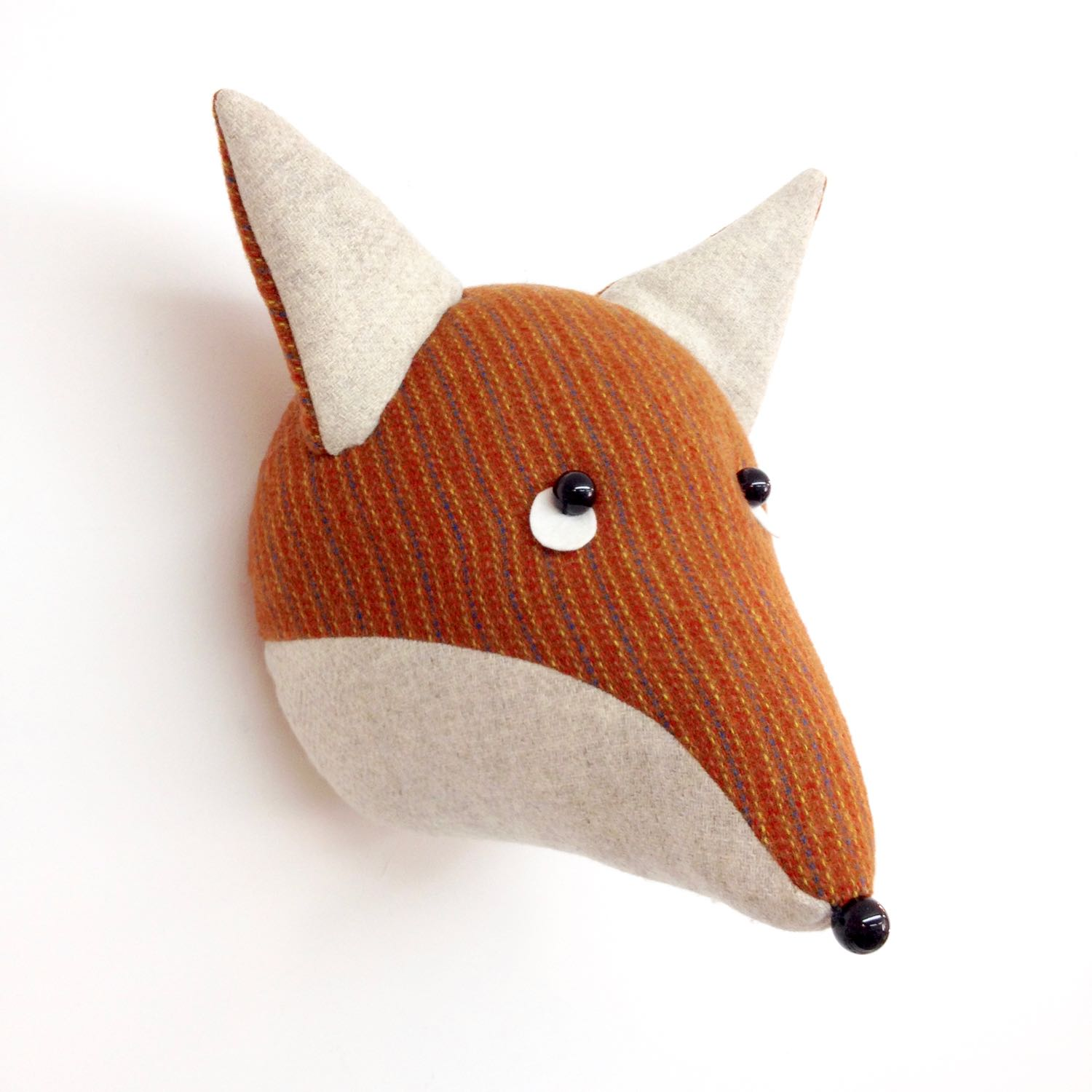 Tweed fox wall hanging by Laura Mirjami | Mirjami Design
