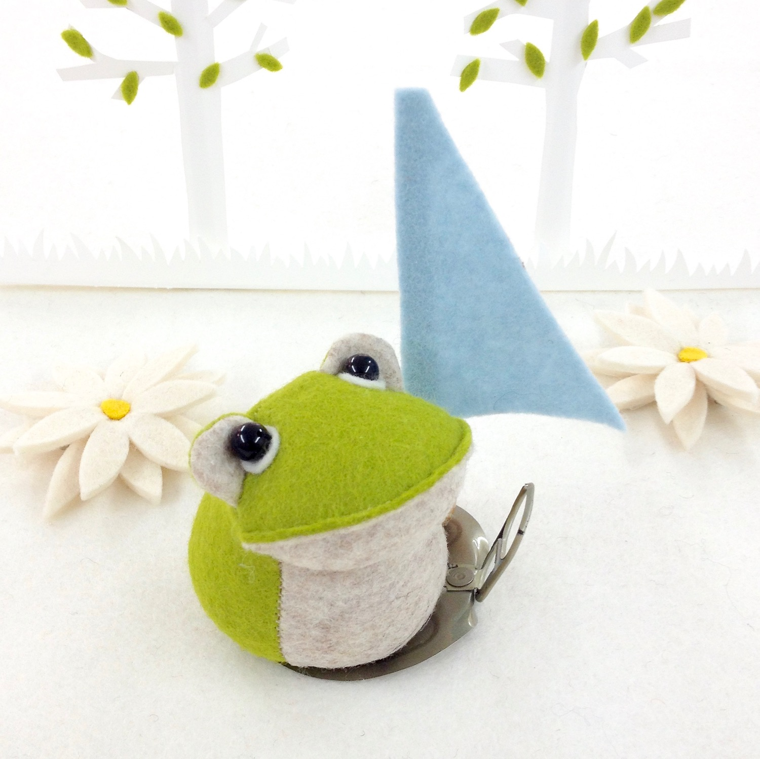 Bilberry Woods character Croaker the Frog by Laura Mirjami | Mirjami Design