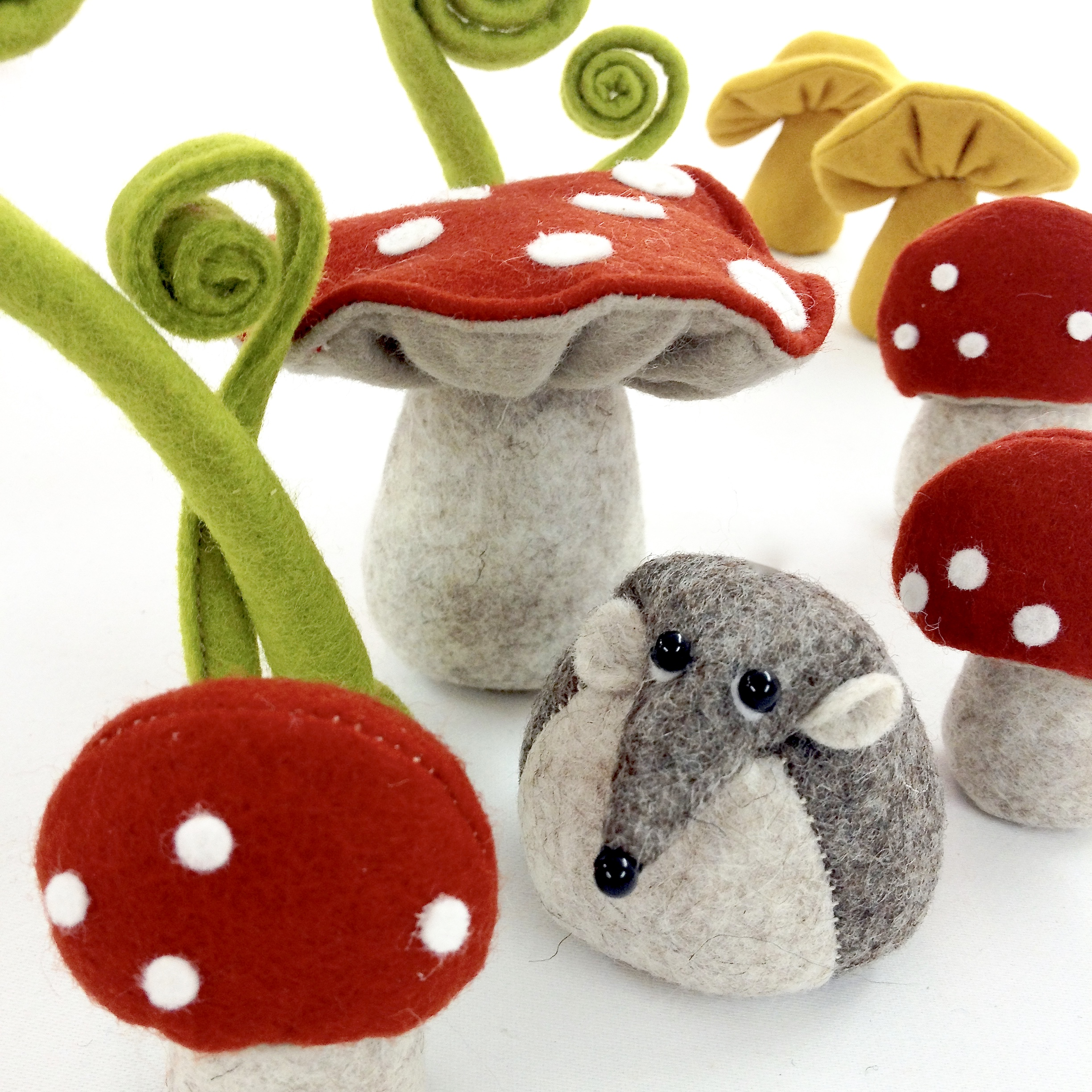 Bilberry Woods character Henry the Harvest Mouse by Laura Mirjami | Mirjami Design