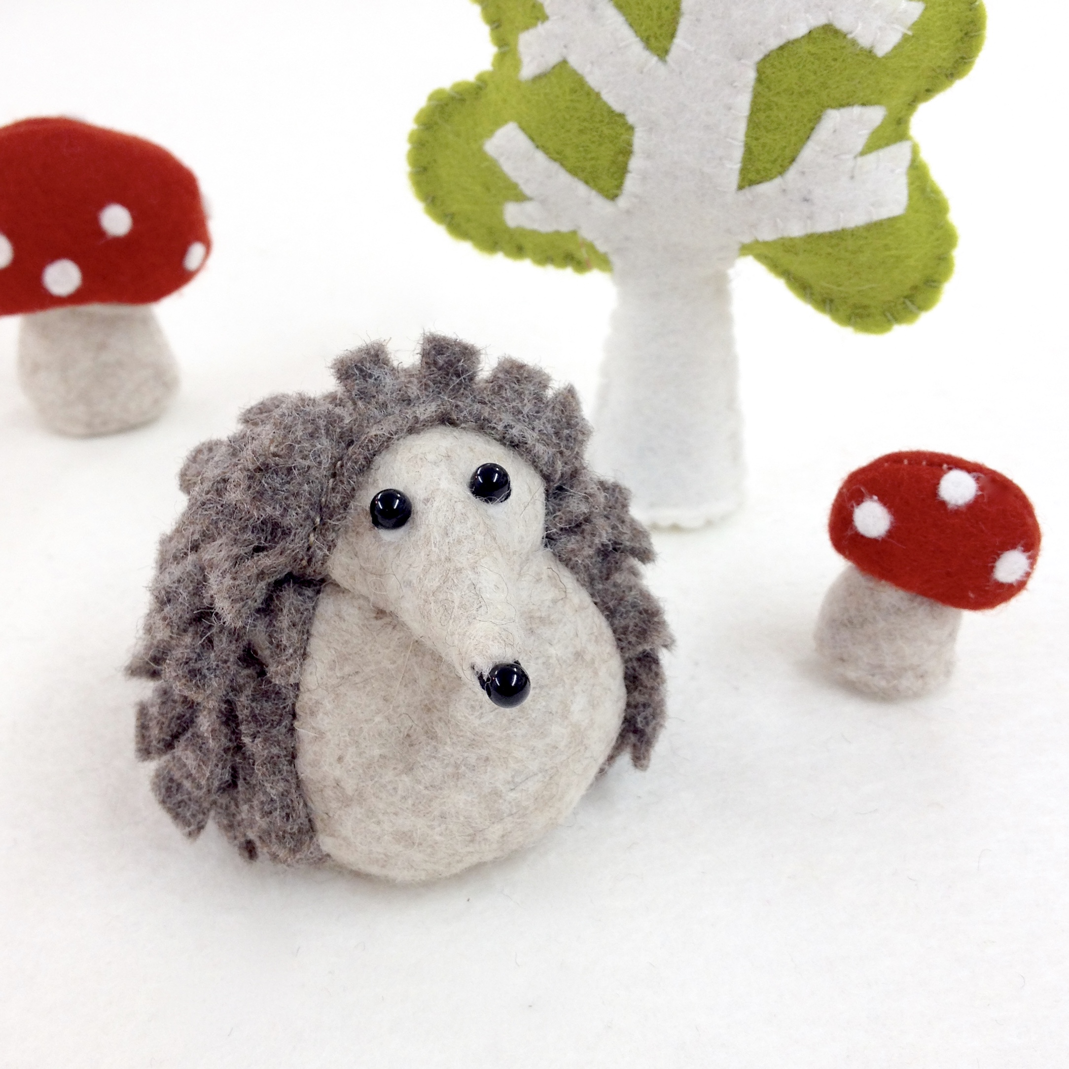 Bilberry Woods character Hartwig the Hedgehog by Laura Mirjami | Mirjami Design