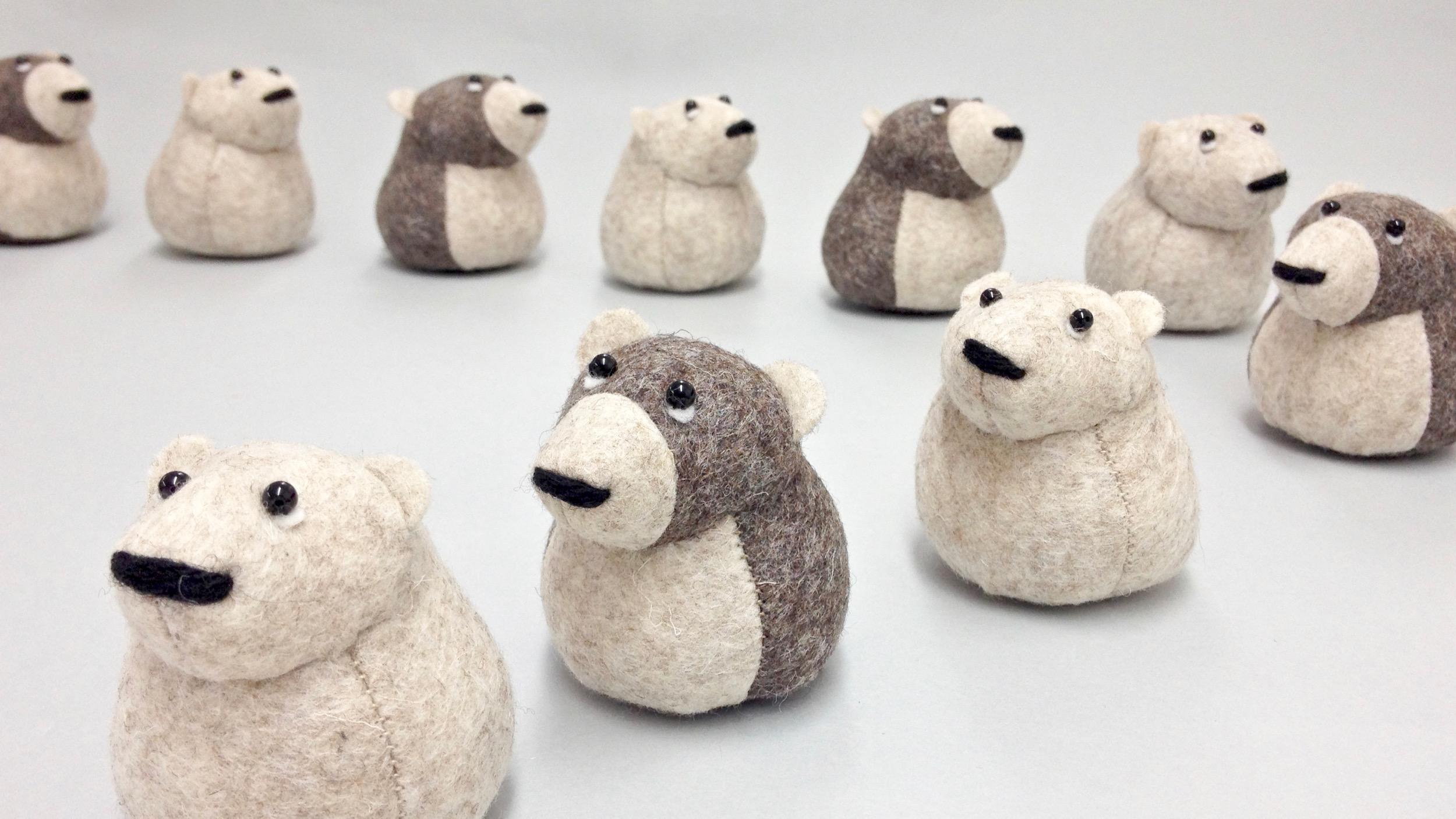 Bilberry Woods story book character wool felt animal figurines by Laura Mirjami | Mirjami Design