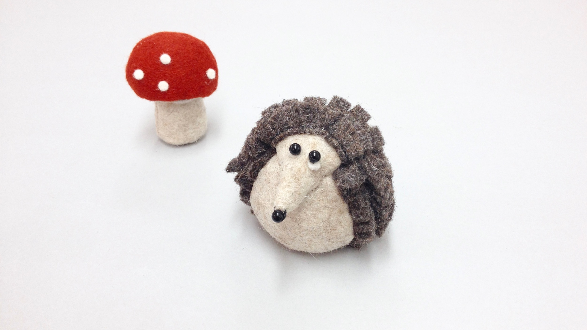 Bilberry Woods storybook character Hartwig the Hedgehog handmade from wool felt by Laura Mirjami | Mirjami Design.jpg