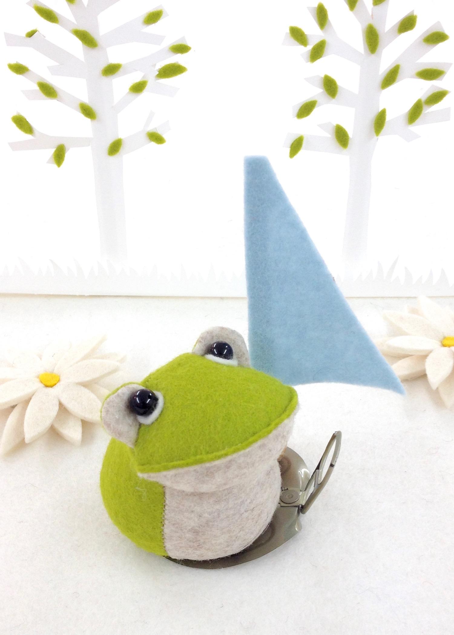 Bilberry Woods character Croaker the Frog loves windsurfing..jpg