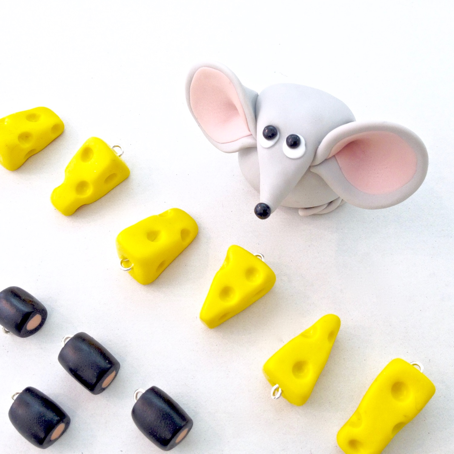 Handmade Fimo polymer clay figurines by Laura Mirjami