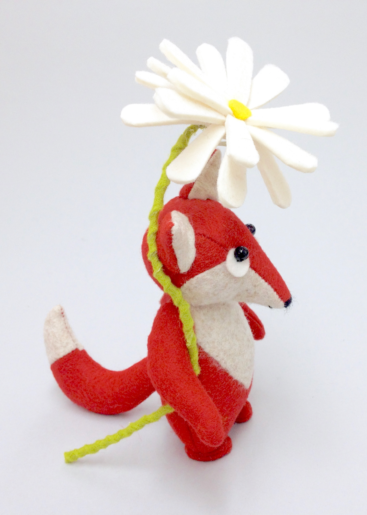 Collector's toy fox by Laura Mirjami