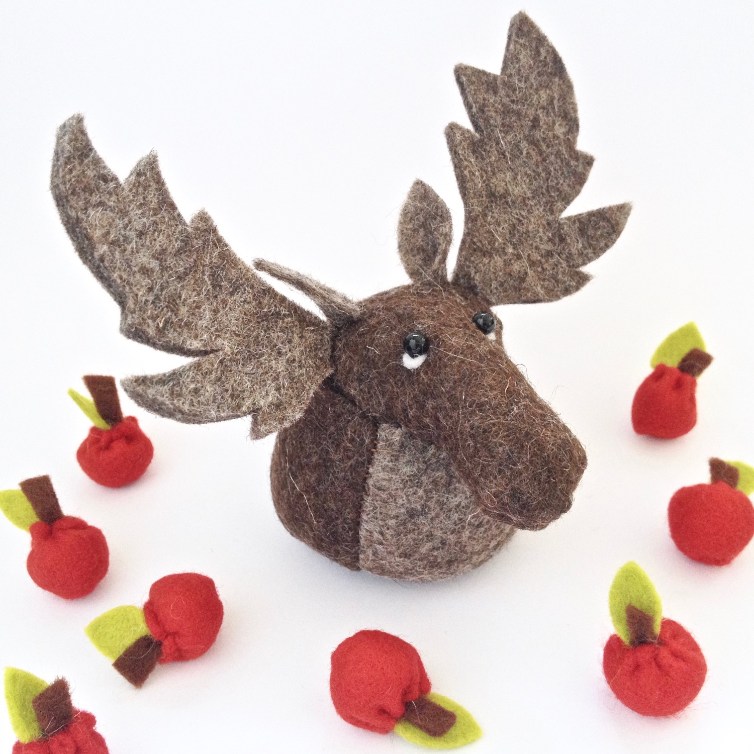 Bilberry Woods Mr Moose by artist Laura Mirjami