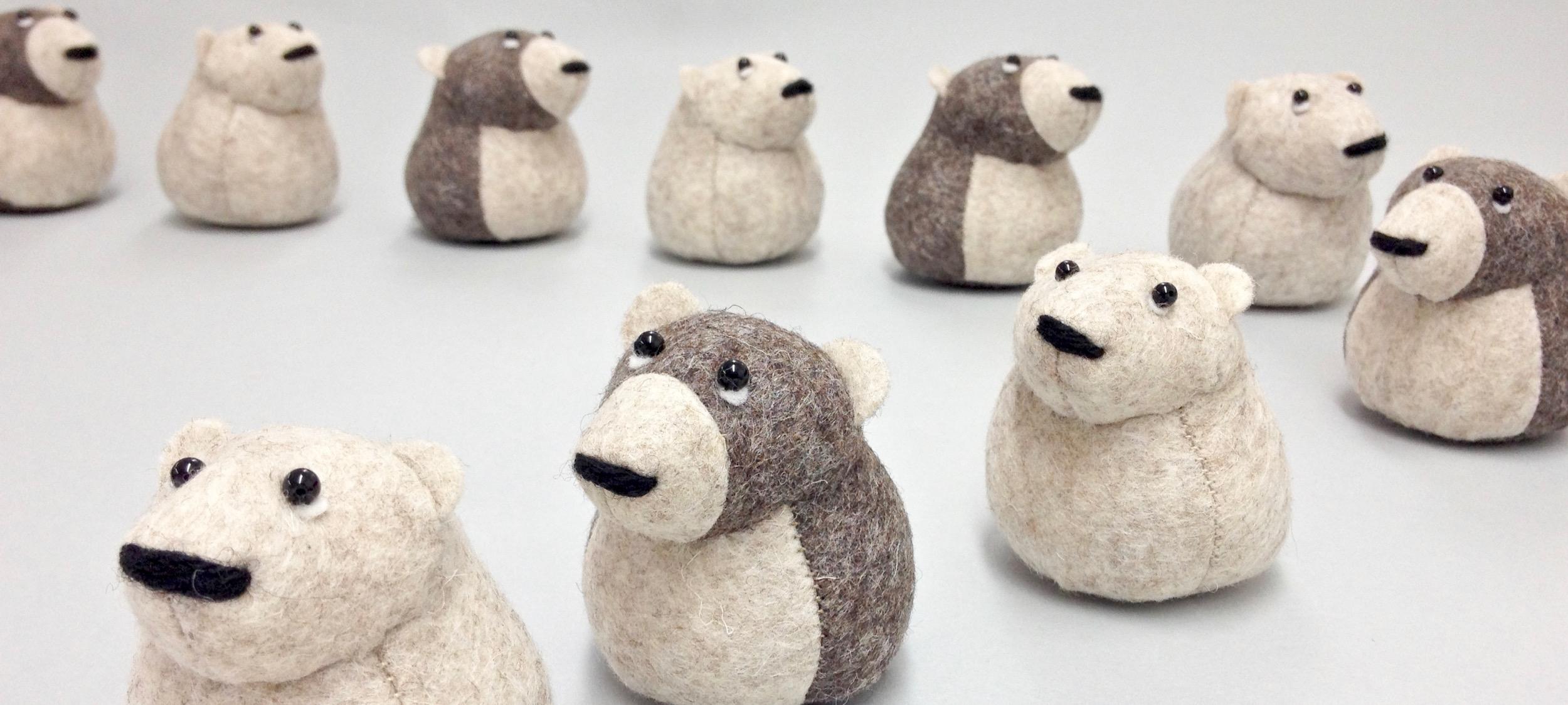 Bilberry Woods story book characters handmade by Laura Mirjami | Mirjami Design.
