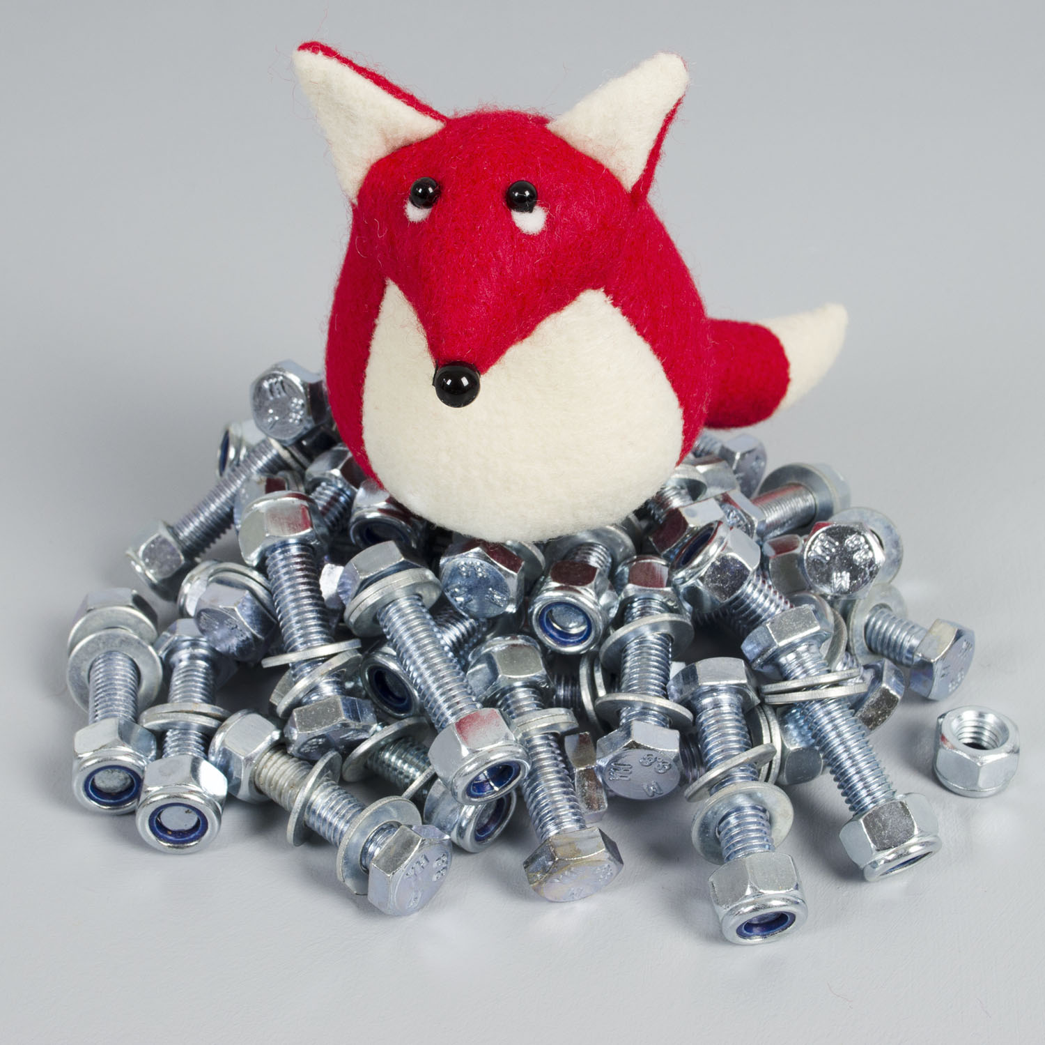 Findlay The Fox paperweight handmade from Kunin eco-fi felt made from plastic bottles | by Bilberry Woods.jpg