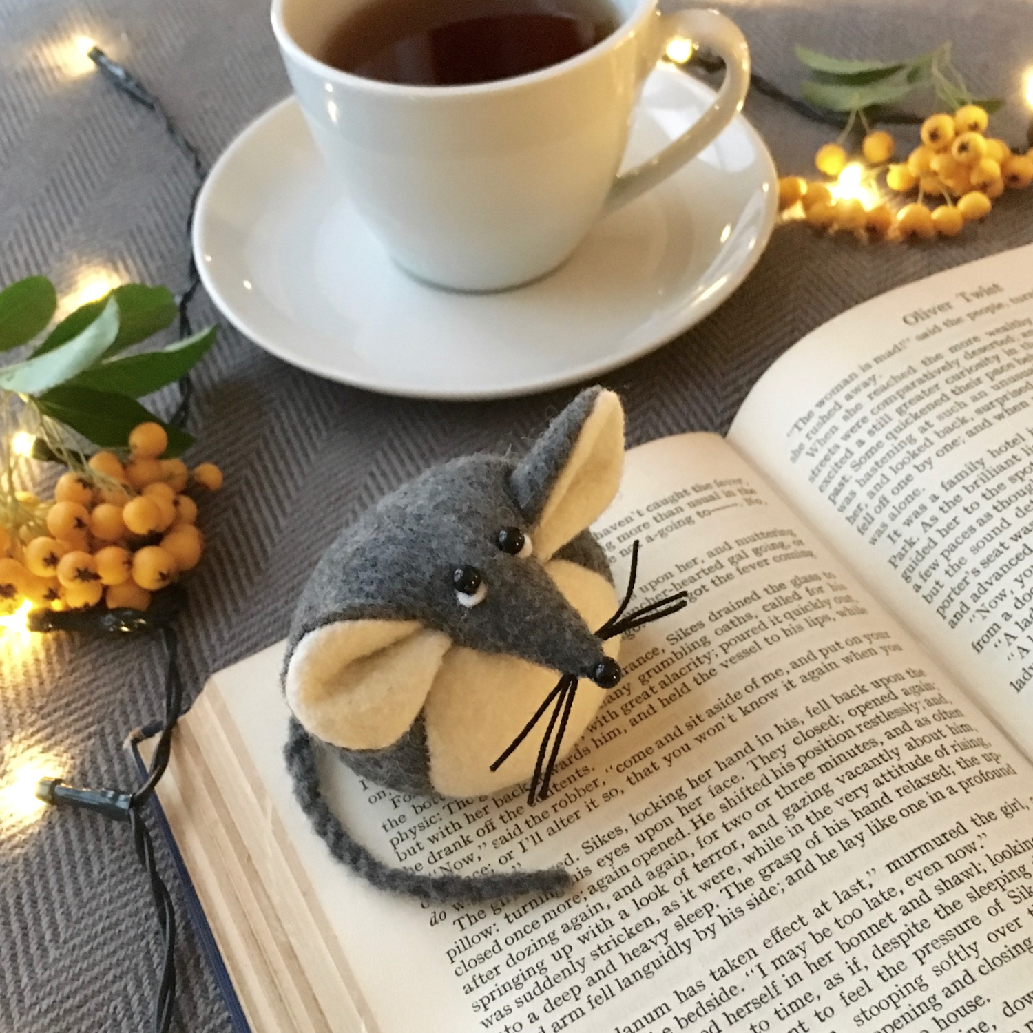Mika the Mouse paperweight |handmade from Kunin eco felt | by Bilberry Woods.jpg