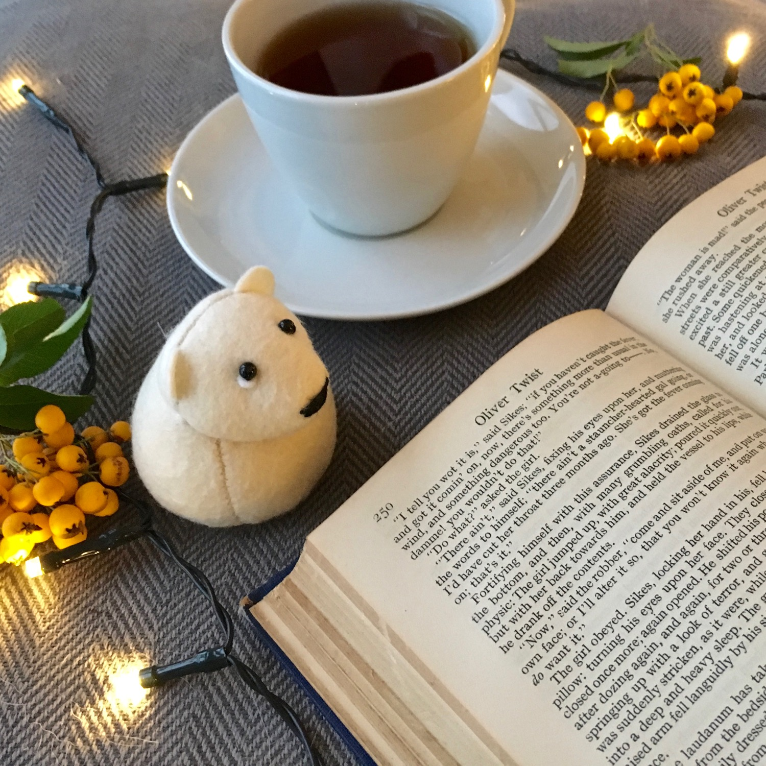 Onni the Polar Bear paperweight | an ideal bookworm's companion | handmade from Kunin eco felt | by Bilberry Woods.jpg