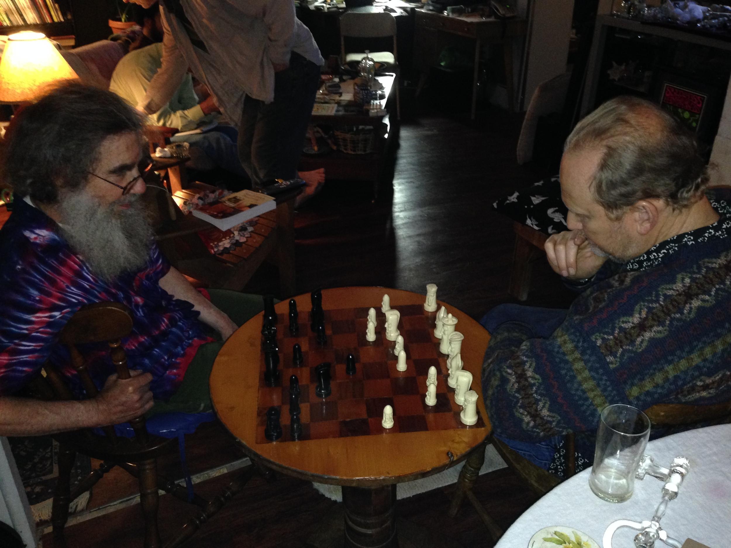 Bob Snodgrass kicking Bandhu's butt at Chess