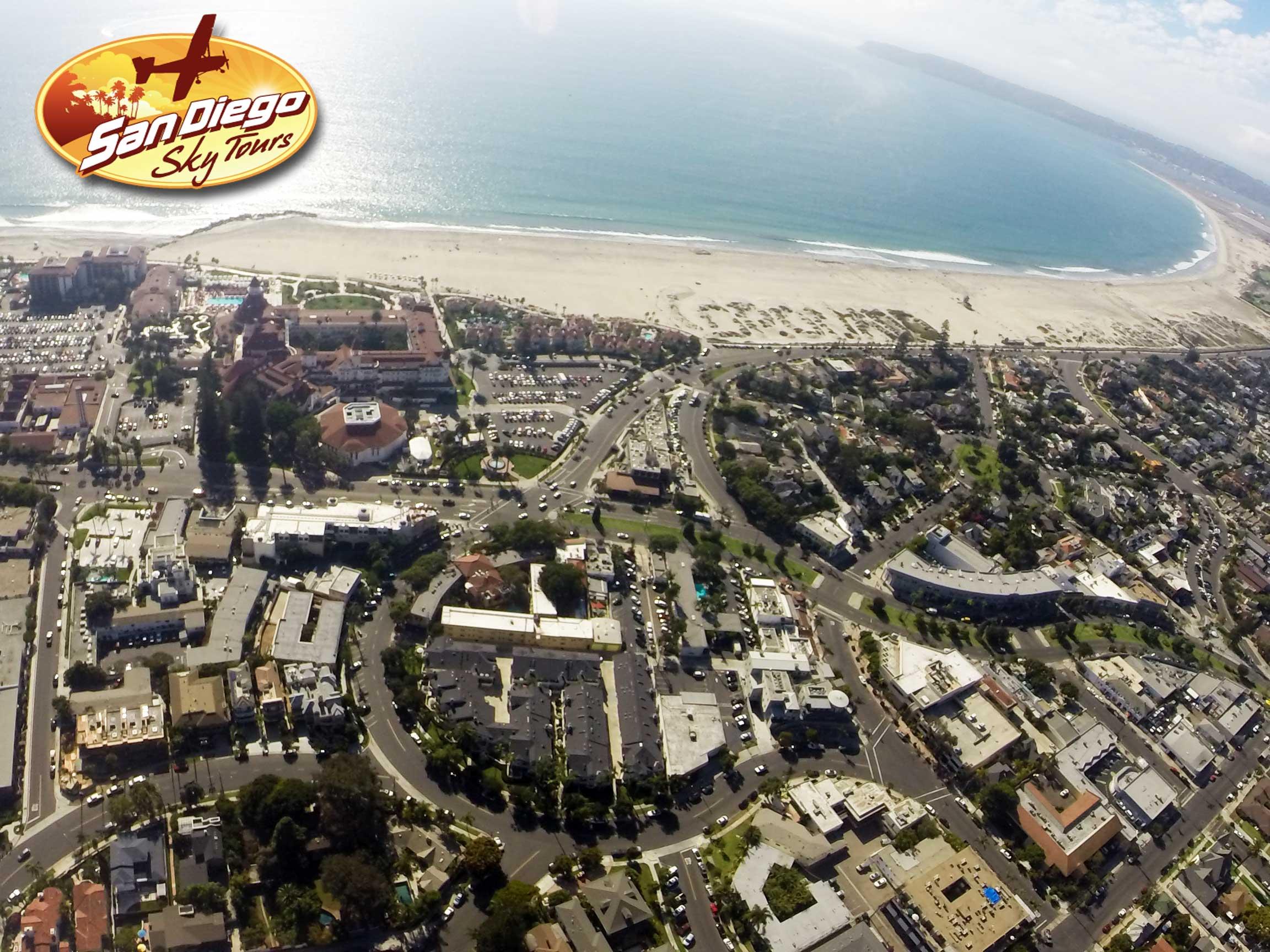 Hotel Del Coronado from above!