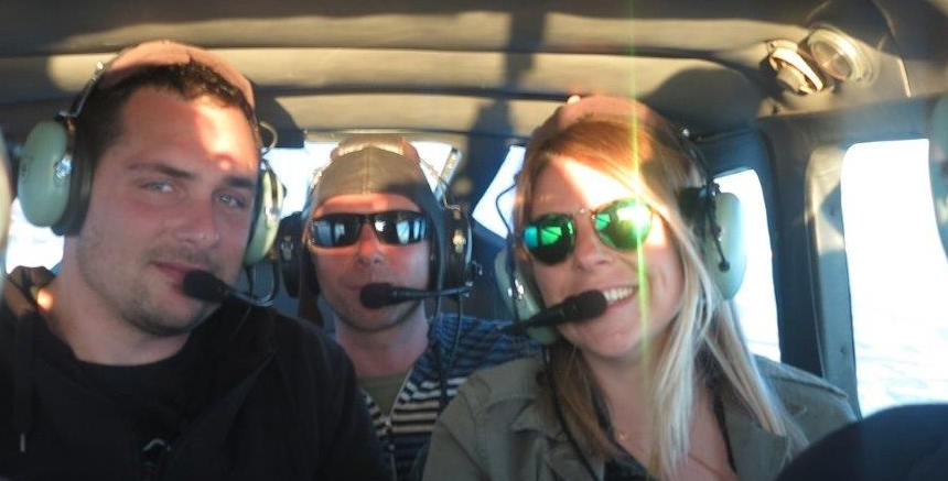 5 Customers having fun on our Socal Classic Aerial Tour