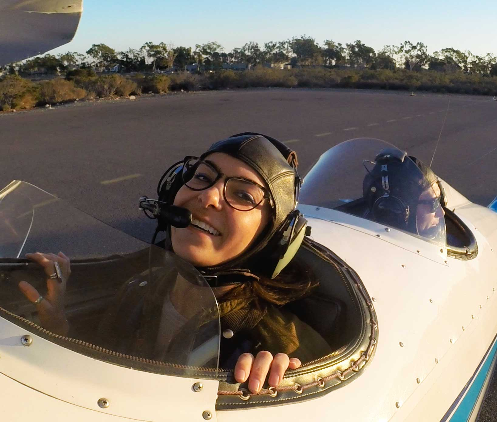 """We are awaiting our turn to Takeoff and coordinating with Tower Control. """"Hang in there Aubry!"""""""