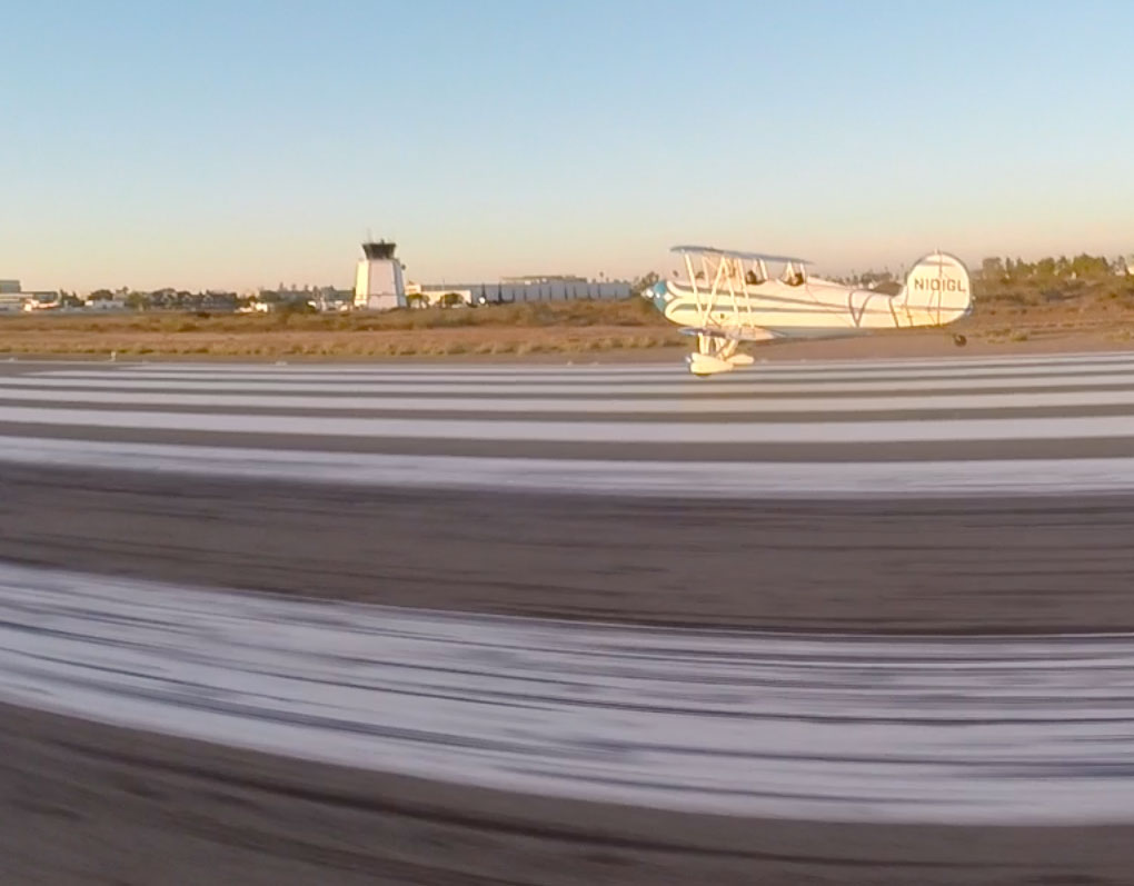 A Takeoff on RWY 28R at Montgomery Field with Aubry's wingman next to her.
