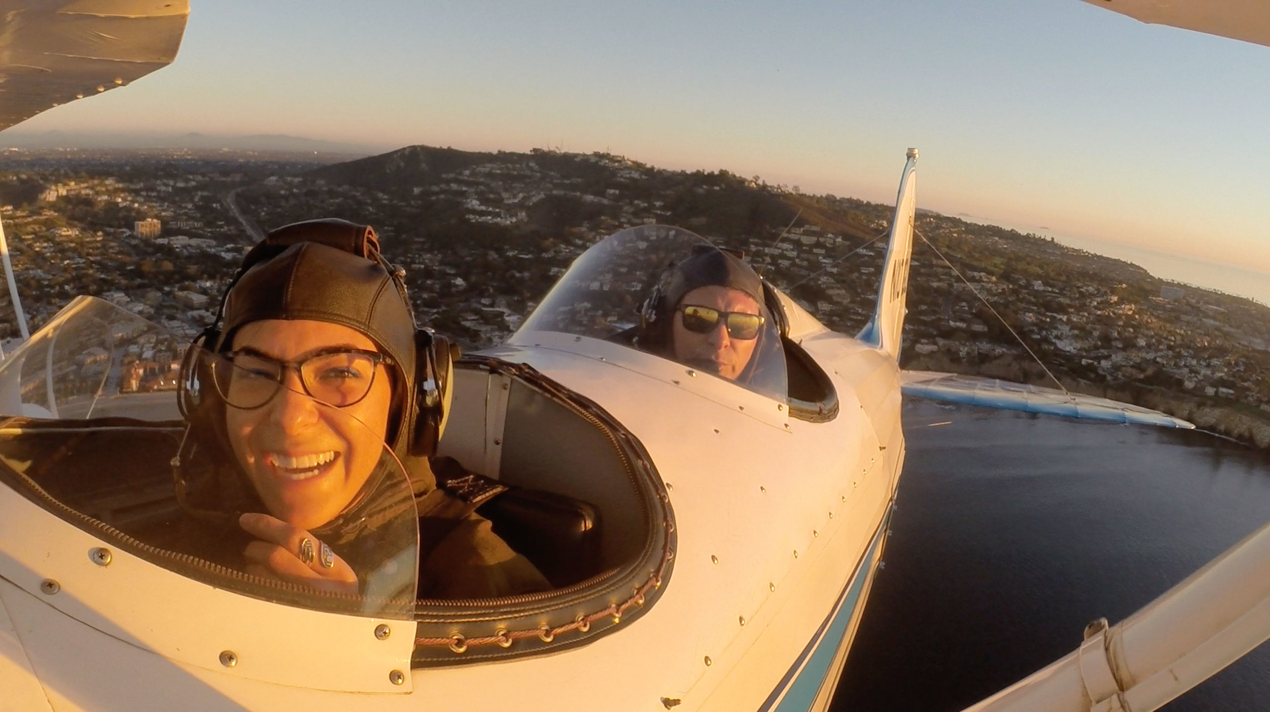 I love the emotions on Aubry's face throughout the flight. She is remarkable,warm and aware. I was impressed!