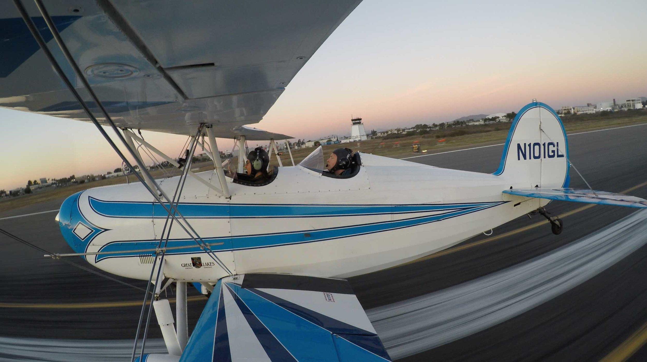 Safe landing! Taxi back to parking. Sunset Mission Complete!