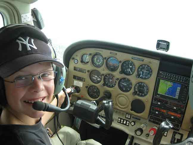 Young Maximillian flying a Cessna