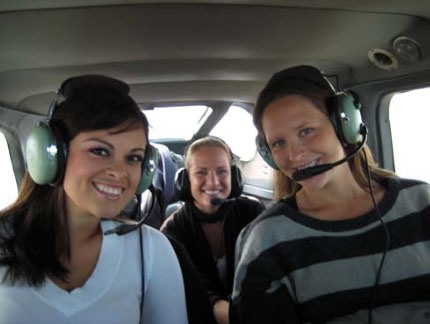 Getting ready to enjoy an airplane ride over San Diego.