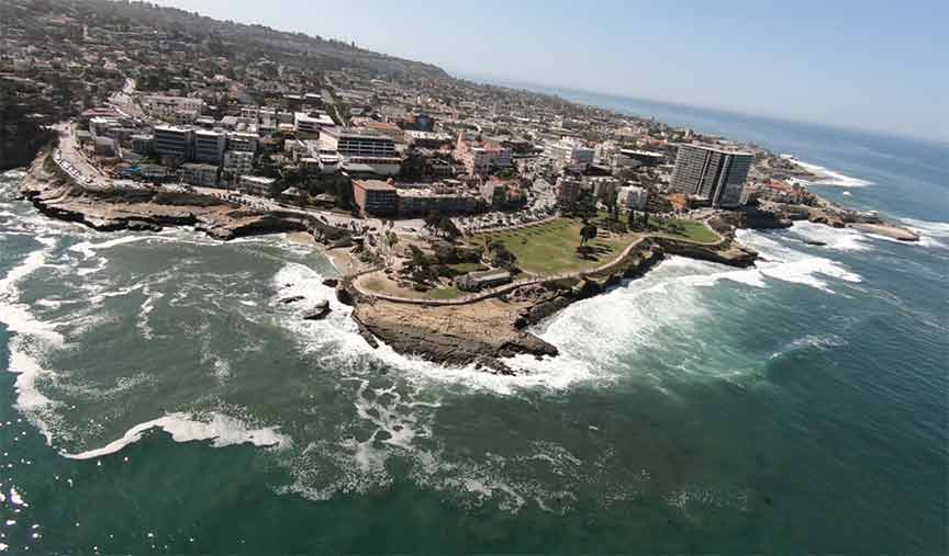 Flying the biplane over La Jolla is one of the most thrilling experiences.