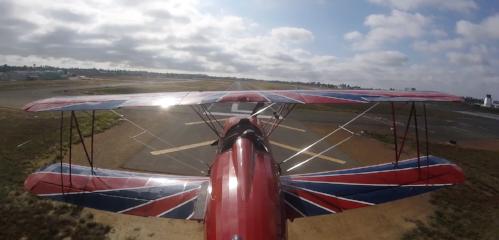 Biplane Tour landing in San Diego